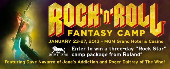 Roland Rock 'n' Roll Fantasy Camp Giveaway