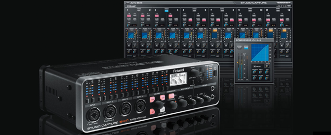 New Product: STUDIO-CAPTURE 16x10 Audio Interface with 12 Mic Preamps