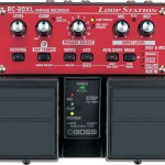 Red and black BOSS Loop Station RC-20XL