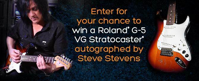 Win a Steve Stevens Autographed G-5 Strat