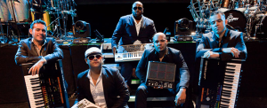 Pitbull's band, the agents with Roland gear