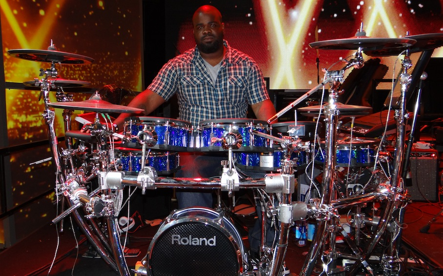 Rex Hardy Jr and his TD-30KV V-Pro Series V-Drums on American Idol