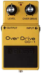 BOSS OD-1 OverDrive guitar effects pedal