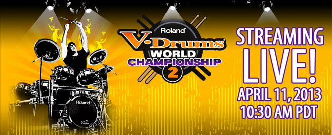 Roland V-Drums World Championship 2 - Watch Live Online