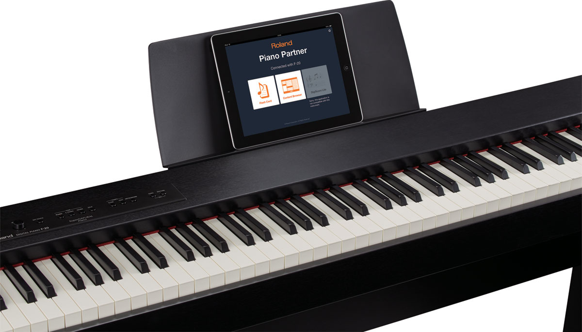 F-20 with Piano Partner for iPad