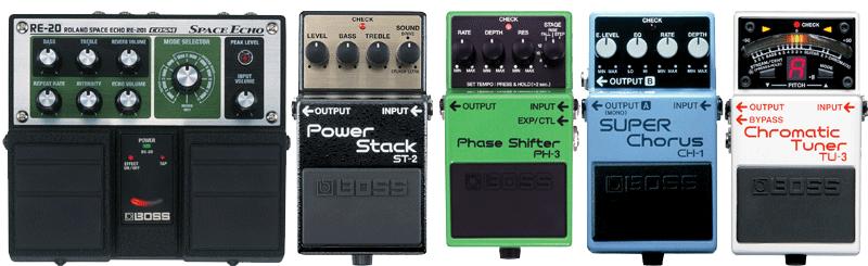 Classic Rock pedals: