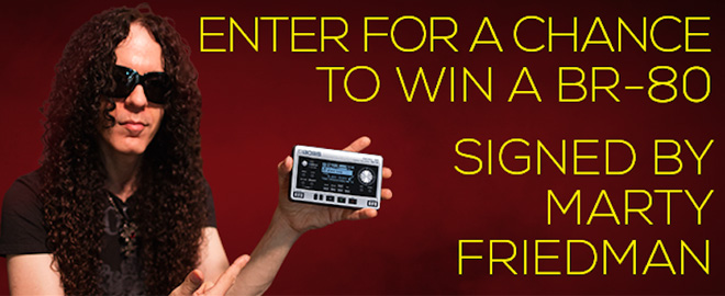 Win a BR-80 Digital Recorder autographed by Marty Friedman