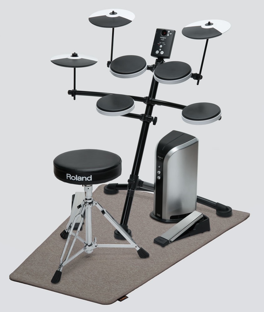 Roland TD-1K V-Drums with PM-03 Drum Monitor, TDM-3 V-Drums Mat, and Drum Throne