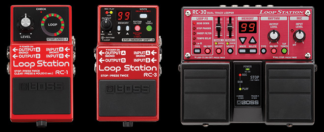 The Compact BOSS Loop Station Family