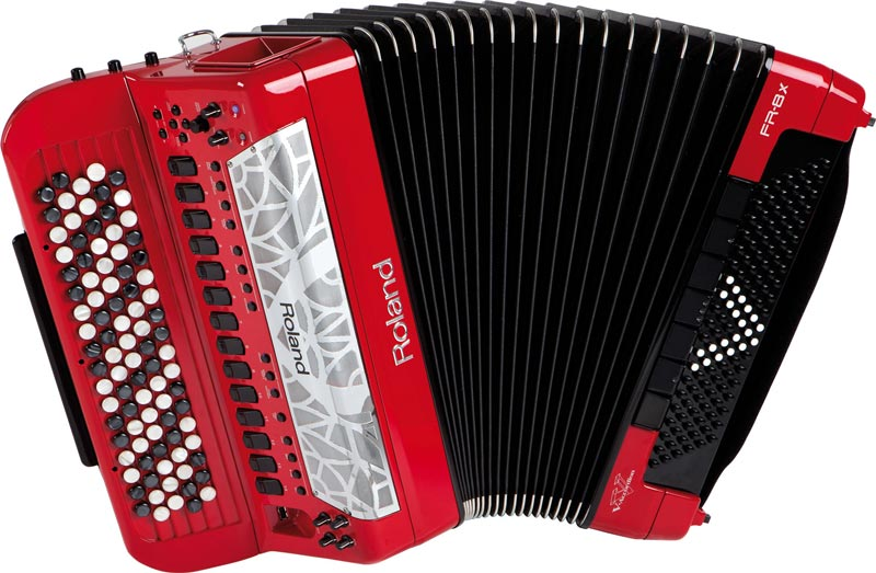 Roland FR-8xb V-Accordion Version 2.0 in Red Finish