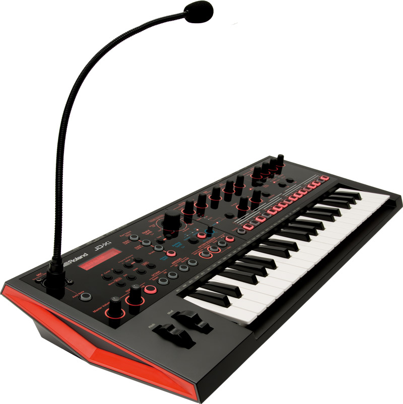 Roland JD-Xi Interactive Crossover Synthesizer with Gooseneck Mic