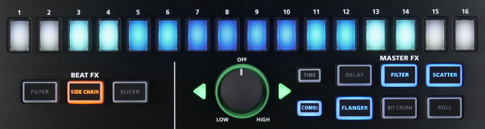 Roland MX-1 Mix Performer Effects Control Section