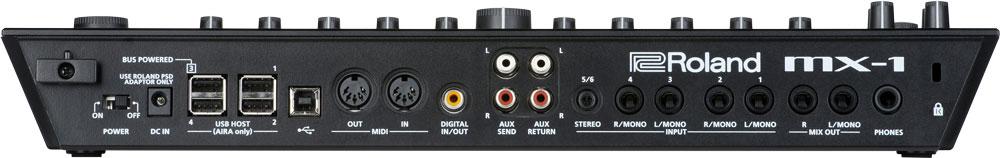 Roland MX-1 Mix Performer Rear Panel