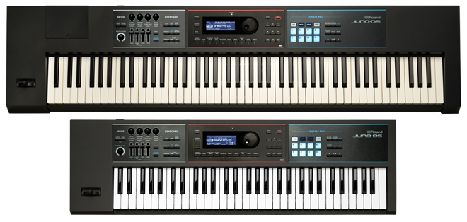 JUNO-DS88 and JUNO-DS61 Synthesizers
