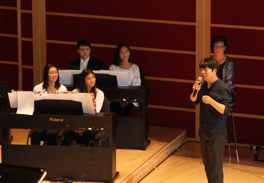 Lang Lang offers a Master Class to students.