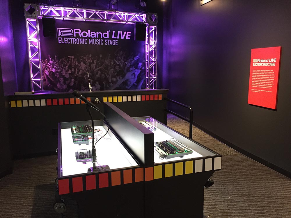 Roland LIVE electronic music stage at the GRAMMY Museum Gallery in Nashville