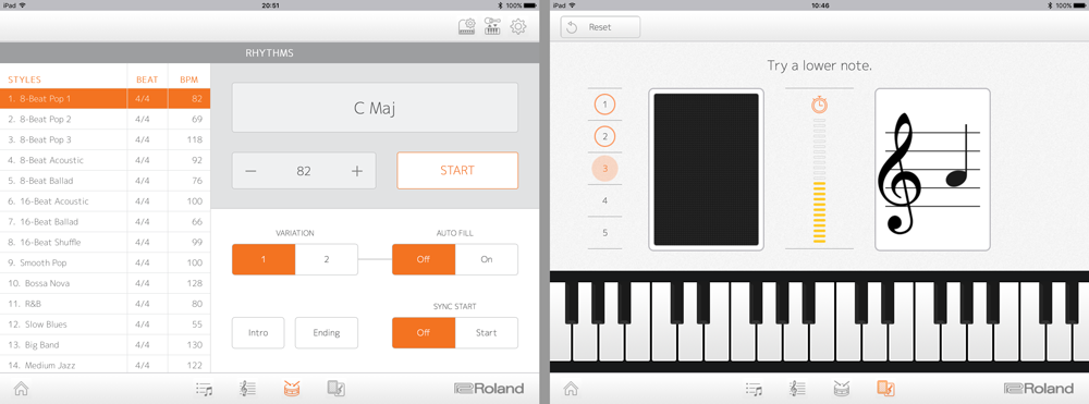 Piano app