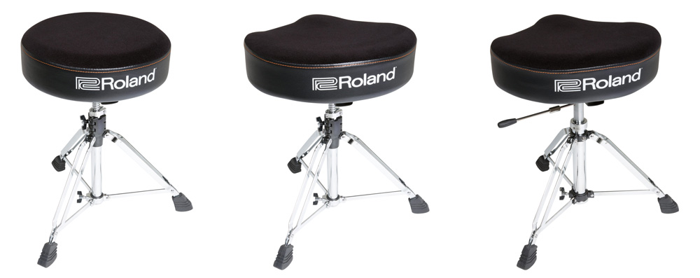 Roland's new drum thrones are available in three different configurations.