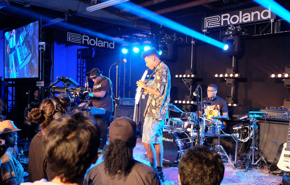 Masego performs on Roland's new Aerophone AE-10 Digital Wind Instrument at Six01 Studio on #909day.