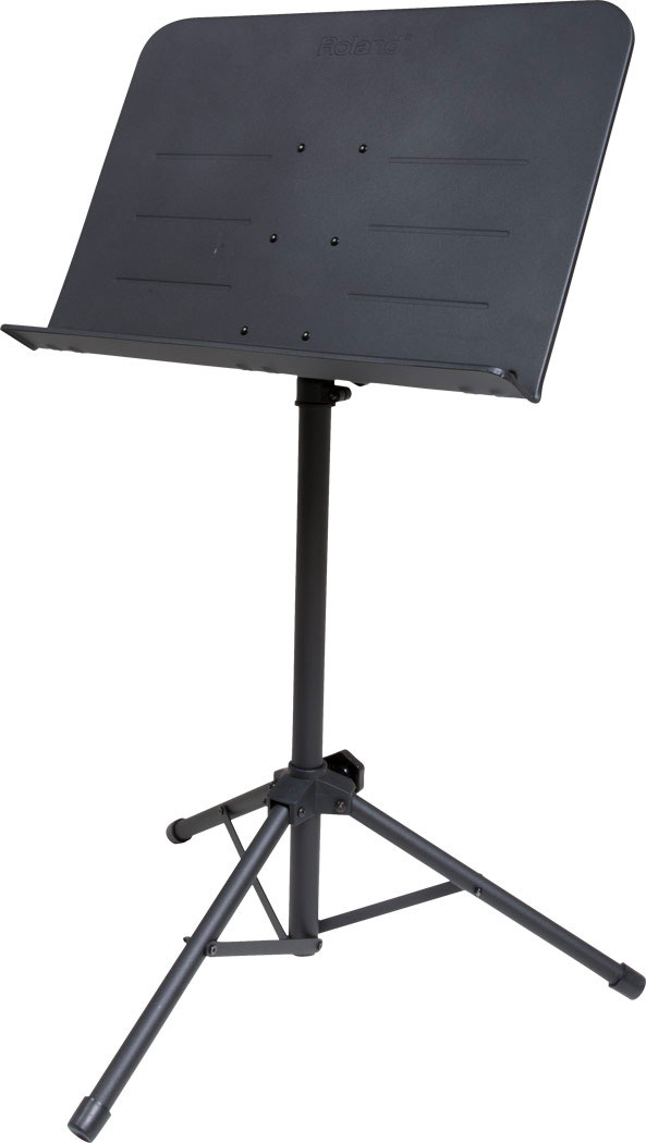 The new Roland music stand is durable, portable, and ultra-stable.