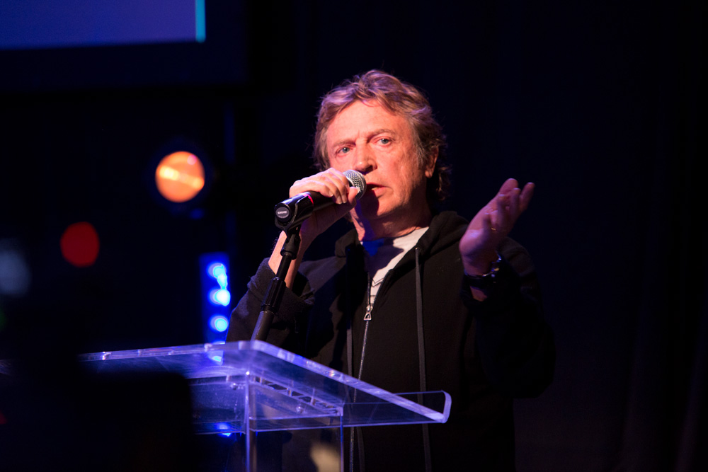 Andy Summers at the 2017 Roland International Press Conference.