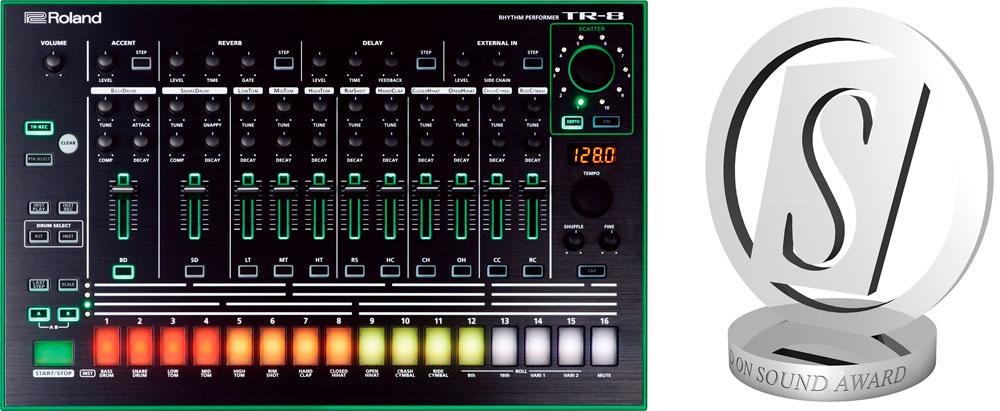 Sound on Sound readers voted the Roland TR-8 Rhythm Performer the best hardware drum machine in 2016.