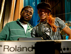 Gil Smith with Faith Evans