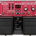 Red and black BOSS Loop Station RC-30